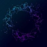 Lignes polygonales géométriques cercle de vecteur de réseau Futuriste reliez le concept de la science Wireframe de Digital Image libre de droits