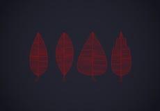 Lignes réglées colorées de feuilles d'automne sur l'obscurité illustration libre de droits