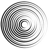 Lignes radiales avec la déformation tournante Spirale abstraite, vortex s illustration libre de droits