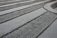Lignes ratissées de sable Images stock