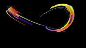 Lignes rayées colorées mouvements clips vidéos