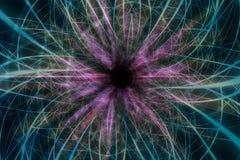 Lignes reliées multicolores abstraites artistiques fond illustration stock