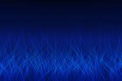 Lignes rougeoyantes bleues abstraites Photos stock