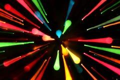 Lignes rougeoyantes colorées fond Photographie stock