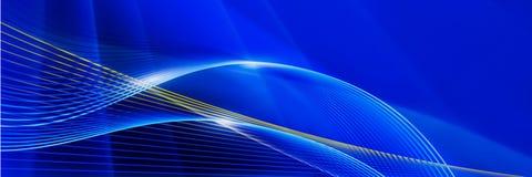 Lignes rougeoyantes sur un fond bleu Beau contexte panoramique illustration stock