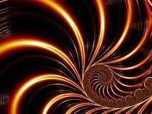 Lignes rouges abstraites Images stock