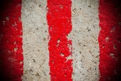 Lignes rouges et blanches Images libres de droits