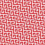 Lignes rouges et blanches de sinuos Images stock
