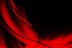 Lignes rouges et vagues abstraites illustration de vecteur