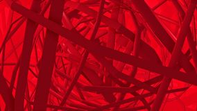 Lignes rouges tournantes abstraites illustration libre de droits