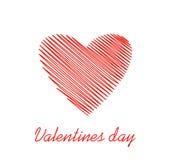 Lignes simples sous forme de coeur rouge pour la Saint-Valentin Concept de construction créateur Illustration de vecteur Copiez l illustration libre de droits