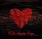 Lignes simples sous forme de coeur rouge pour la Saint-Valentin Concept de construction créateur Illustration de vecteur sur le f illustration libre de droits
