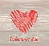 Lignes simples sous forme de coeur rouge pour la Saint-Valentin Concept de construction créateur Illustration de vecteur sur le f illustration stock
