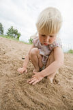 Lignes sur le sable Photo libre de droits