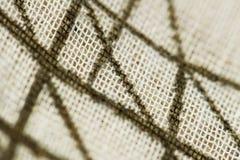 Lignes sur le tissu Image stock
