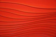 Lignes sur un fond rouge Photo stock
