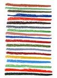 Lignes tachées par couleur avec les crayons en pastel Photographie stock