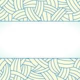 Lignes tirées par la main beiges et bleues fond Image libre de droits