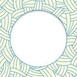 Lignes tirées par la main beiges et bleues fond Photo libre de droits