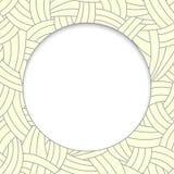 Lignes tirées par la main beiges fond Image libre de droits