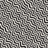 Lignes tirées par la main d'ondulation onduleuse Conception géométrique abstraite de fond Dirigez la configuration sans joint illustration libre de droits