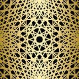 Lignes tricotées par or sur le fond noir illustration libre de droits