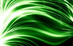 Lignes Vertes abstraites Images libres de droits