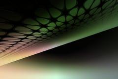 Lignes Vertes abstraites Photos libres de droits