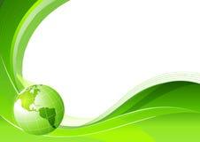 Lignes Vertes abstraites de fond Images libres de droits