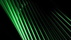 Lignes Vertes abstraites de mouvement Images stock