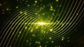 Lignes vertes remous de particules