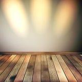 Lignes vides mur avec 3 lumières de tache. ENV 10 Image libre de droits