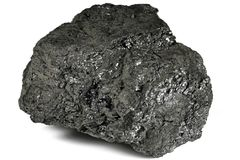 Lignite. From Bergheim/ Germany isolated on white background Royalty Free Stock Photo
