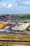 Lignite (brown coal) strip mining Garzweiler, Germany, vertical. Lignite (brown coal) strip mining Garzweiler, Germany, a large surface mine for power generation royalty free stock photography