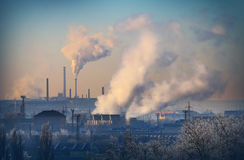Lignite combined heat and power plant plant Royalty Free Stock Photo