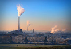Lignite combined heat and power plant plant Stock Images