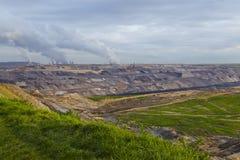 Lignite - estrazione a cielo aperto Garzweiler (Germania) Fotografia Stock Libera da Diritti