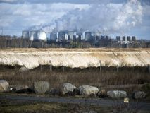 Lignite-fired power plant Germany Stock Images