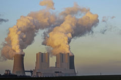 Lignite-fired power station BoA 2&3 Royalty Free Stock Images