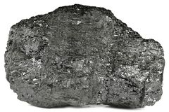 Lignite. From Bergheim/ Germany isolated on white background Royalty Free Stock Images