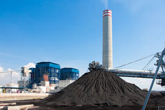 Lignite mass. Mass of lignite raw fuel material for generator electric power plant royalty free stock photography