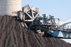 Lignite mass digger machine  Stock Photography