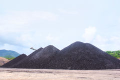 Lignite mass ready to be energy Royalty Free Stock Images