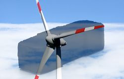 Lignite meets wind power in the Landscape. Lignite meets wind power energy, environmental protection and nuclear power royalty free stock photo