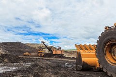 Lignite mine Royalty Free Stock Photography