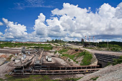Lignite mine in north of Thailand Royalty Free Stock Photos
