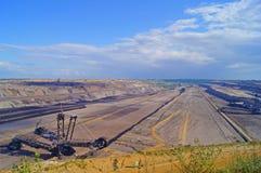 Lignite mining. In Germany, North Rhine Westphalia stock images