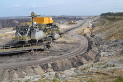 Lignite mining. In the Eastern part of Germany stock images