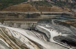 Lignite mining pit. Above view landscape stock image
