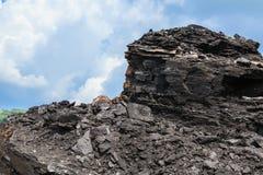 Lignite no céu azul fotografia de stock royalty free